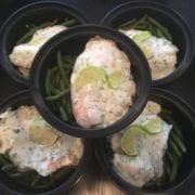 Cilantro-Lime Tilapia with White Rice & Green Beans